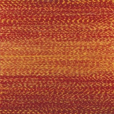 Shobha Broota RITUAL 2007 Thread on canvas 30 x 30 x 1 in.