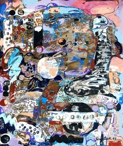Sanatan Saha UNTITLED (MAN KNEELING) 2008 Acrylic on canvas 36 x 30 in.