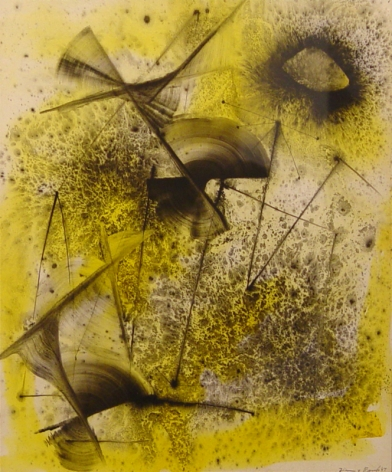 Jimmy Ernst, Composition in Yellow and Black, 1947