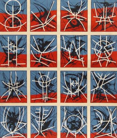 Jimmy Ernst, Hieroglyphics, 1969