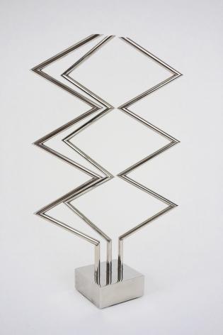"Yaacov Agam, 3 x 3 Interplay, 1970, Silverplate, H 14.5"", Signed"