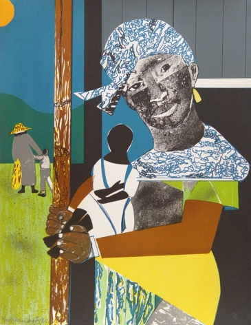 """Romare Bearden (1911 - 1988) Come Sunday - Mother and Child 1975 Lithograph H 27.75"""" x W 21.5"""" Signed, Dated and Inscribed Lower Left - """"Romare Bearden, 1975, 36/75"""""""