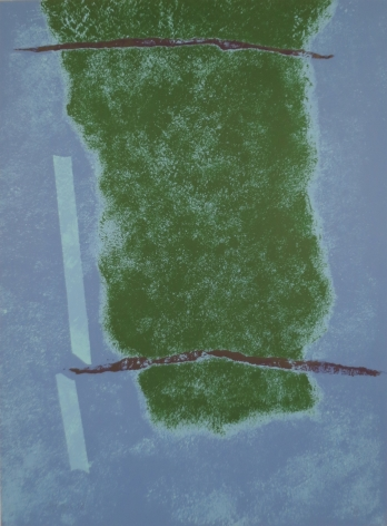 """Theodoros Stamos, 1922 - 1997, Untitled II (Infinity Field - Lefkada Series), circa 1977, Screenprint in Colors, H 37.75"""" x W 27.875"""", Signed Lower Left - """"Stamos"""""""
