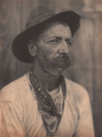 Doris Ulmann, Untitled (Miner), ​1928–1934. Portrait of a man wearing a hat and handkerchief looking off to the right of the frame.