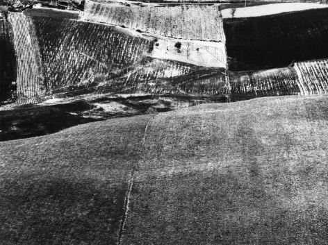 Mario Giacomelli, Paesaggio, n.d. Abstract landscape divided horizontally and vertically into lighter and darker sections.