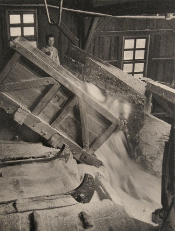 Harold Haliday Costain, Dumping 3 1/2-ton Rock Salt from the Top of the Breaker into Giant Crusher, Avery Island, Louisiana, 1934