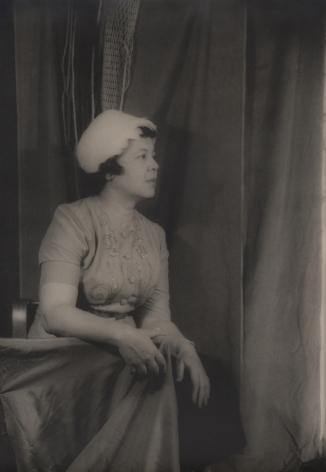05. Carl Van Vechten, Margaret Bonds, 1956. Seated portrait in profile, facing the right of the frame.