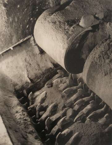 Harold Haliday Costain, Long Island City Plant, 1935. Detail of a crushing machine.