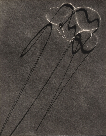 Gordon Coster, Wire Sculpture, c. 1935. Abstract photo of a bundle of wire with long shadows spanning the frame.
