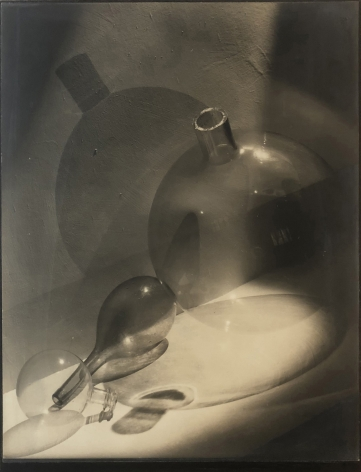 Harold Haliday Costain, Crystal Curves II, 1934. Abstract composition featuring three glass vessels and their shadows.