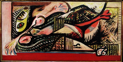Reclining Woman, CR#69, c. 1938-41, oil on canvas