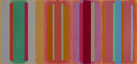 Contra Bass, 2001, acrylic on canvas, 72 x 154 in.