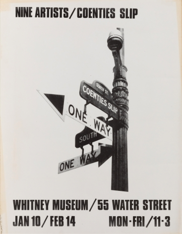 "Whitney Museum of American Art, ""Nine Artists, Coenties Slip,"" 1974"