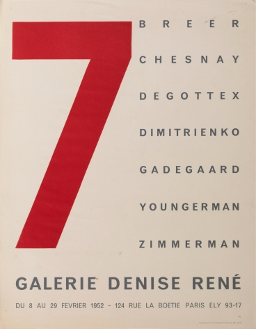 """Galerie Denise Rene, """"7,"""" 1952"""