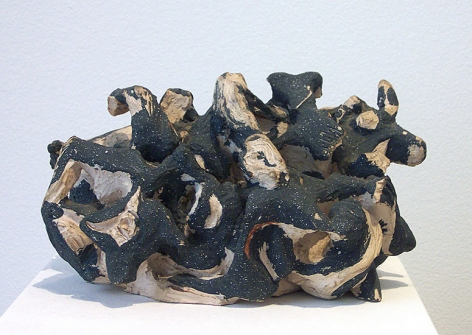 Untitled, c. 1949-50, painted terra cotta, 4 1/4 x 8 x 5 in. CR 1053
