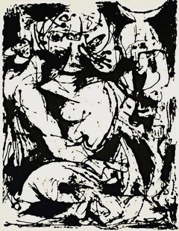 Untitled, CR1095 (After painting Number 22, CR344), 1951 (Printed from original screen in 1964), screenprint, 29 x 23 in.