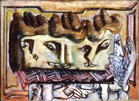 Heads, 1941-42, oil on canvas, 20 x 28 in.