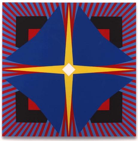 Bluefoil, 2011, oil on Baltic birch plywood, 59 3/4 x 59 3/4 in.