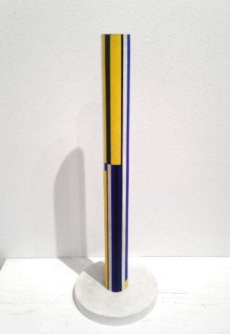 "Ilya Bolotowsky, ""Round Column / Yellow Column,"" 1963, acrylic on wood, 18 x 1 3/4 in."