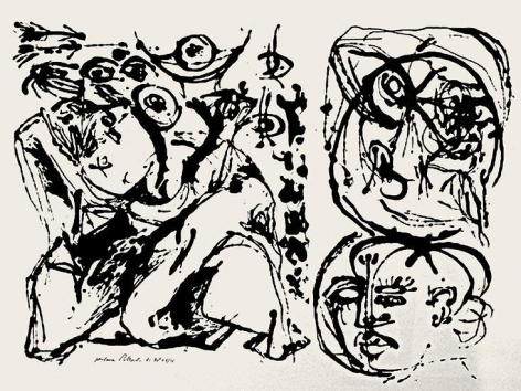 "Untitled (After CR#328), 1951, screenprint, ed. 16/25, 23 x 29 in., CR#1096 (P32), signed and dated with edition number ""25/16"""