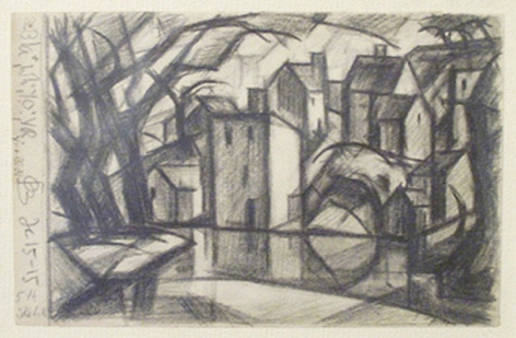Untitled, 1915, crayon on paper, 3 1/2 x 5 1/2 in.