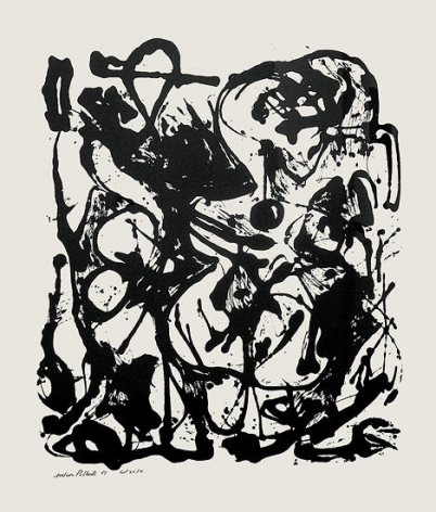 "Untitled (After CR#333), 1951, screenprint, ed. 16/25, 29 x 23 in., CR#1094 (P30), signed and dated with edition number ""25/16"""