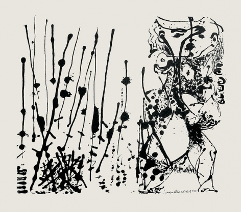 "Untitled (After CR#324), 1951, screenprint, ed. 16/25, 23 x 29 in., CR#1091 (P27), signed and dated with edition number ""25/16"""