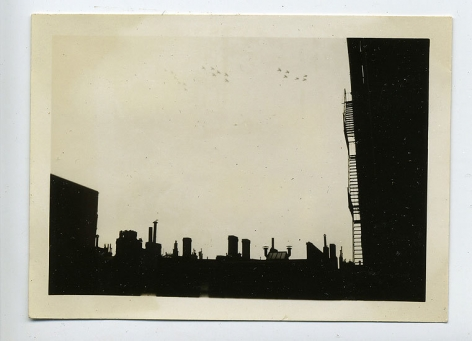 Rooftops, 1940s, 3 1/2 x 2 1/2 in.