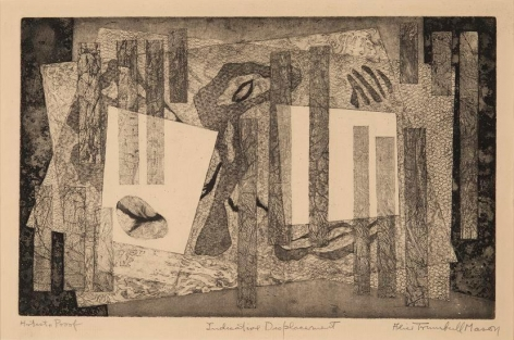 Indicative Displacement, 1947, etching on paper, 10 x 16 in., ed. 2, 2 AP