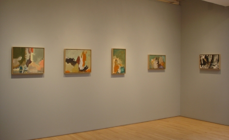 From Right to Left:, Untitled, 1955, Oil on paper mounted on panel, 13 x 21 ¼ in.