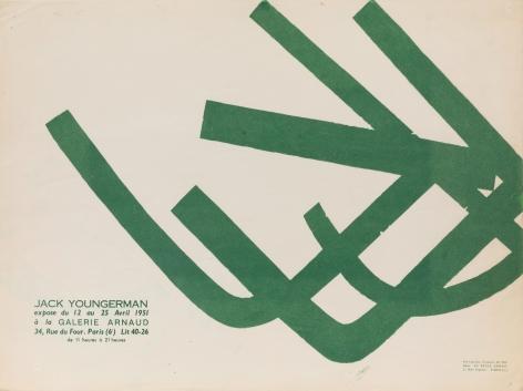 """Galerie Arnaud, """"Jack Youngerman,"""" 1951"""