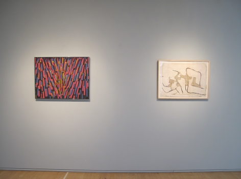 From Right to Left:, CONRAD MARCA-RELLI (1913-2000), Untitled, n.d., Collage on paper, 19 ¾ x 27 ¾ in.
