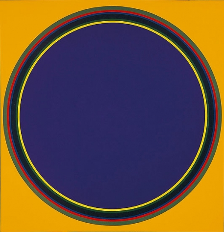 Disk # 17, 1970, acrylic on canvas, 70 x 68 in.