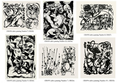 Portfolio of Six Screenprints, printed in 1964 by Bernard Steffen under the supervision of Sanford McCoy.  Authorized by Lee Krasner-Pollock. Various composition dimensions, sheet size 29 x 23 in.