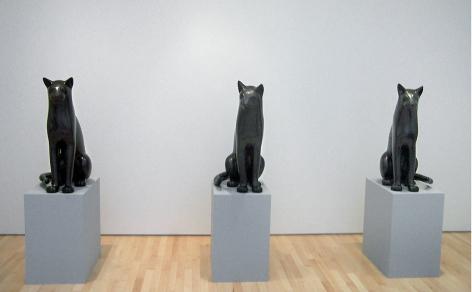 Big Sitting Cat 3, 2006, bronze, ed. 1/9, 31x22x14in.