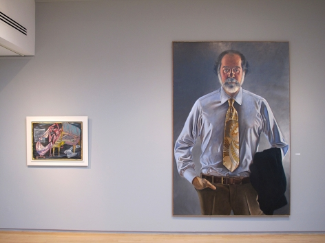 From RIght to Left:, ALFRED LESLIE (b. 1927), Robert C. Scull, 1967-1970, Oil on linen, 102 ¼ x 68 ½ in.