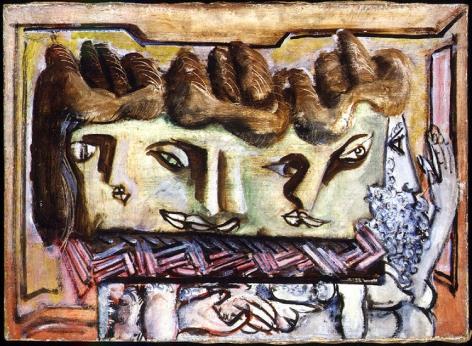 Mark Rothko, Heads, 1941-42, oil on canvas, 20 x 28 in., CR#186