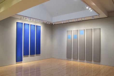 """Installation view, """"Doug Ohlson: Panel Paintings from the 1960s,"""" Washburn Gallery, New York, September 15 - November 5, 2011"""