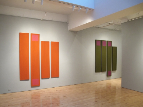 """""""Doug Ohlson: Panel Paintings from the 1960s"""" Washburn Gallery installation view"""