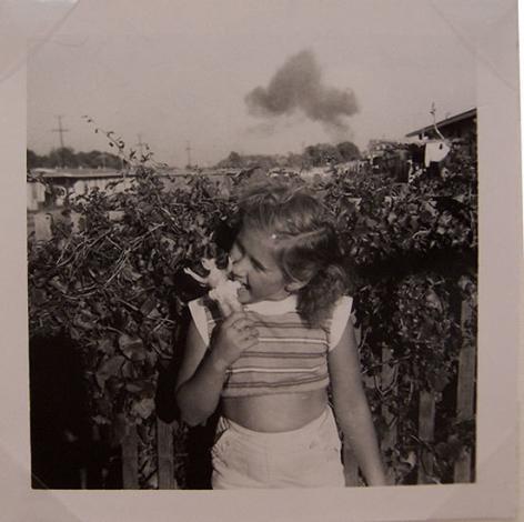 Little Girl Biting Barbie, 1960s, 3 1/2 x 3 1/2 in.