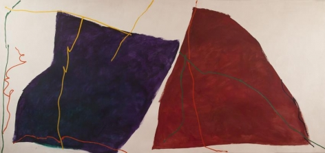 Untitled (#814), 1980, oil on canvas, 77 x 165 1/4 in.