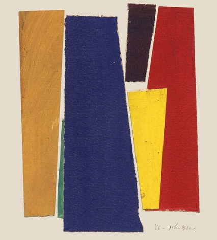 Untitled, 1966, collage on paperboard, 7 3/8 x 5 3/4 in.