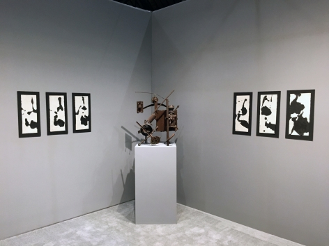 From Left #16, November, 1960, Sumi ink on Japanese paper, 18 x 6 3/4 in.