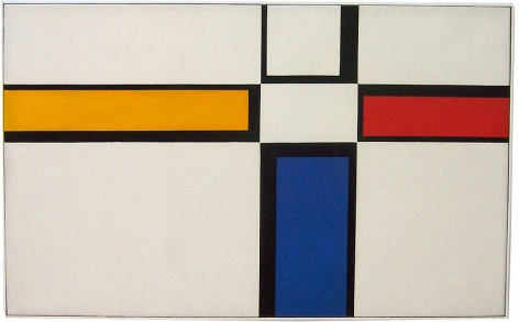 Diagonal Passage with Horizontal, 1950, oil on canvas, 26 x 42 in.