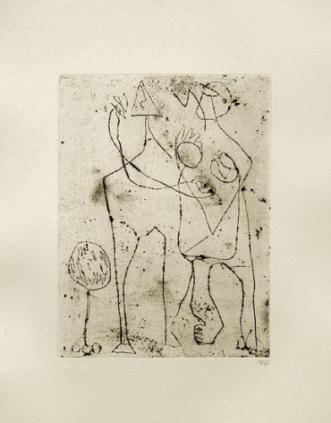 Untitled, CR1075 (P15), c. 1944, printed in 1967, engraving and drypoint on white Italia paper, ed. 13/50