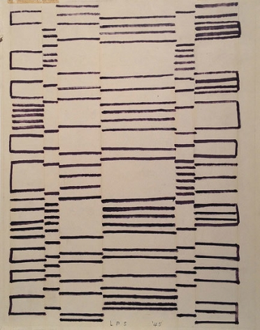Untitled, 1945, ink on paper, 15 1/2 x 12 in.