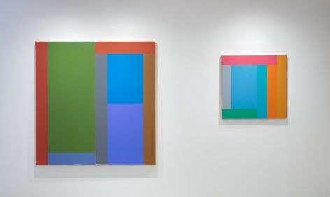 (From Left)Close Tone,1984, oil and acrylic on canvas, 62 x 60 in.,