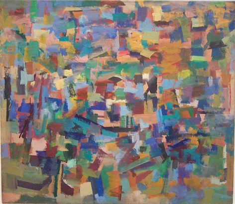 Untitled, 1953-54, oil on canvas, 40 x 46 in.