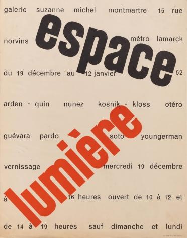 """Galerie Suzanne Michel, """"Espace lumière,"""" 1952"""