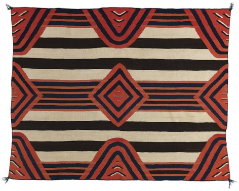 Chief's Blanket, Navajo, Arizona or New Mexico, c. 1880, wool, natural and synthetic dyes, width 69 in., Courtesy Donald Ellis Gallery